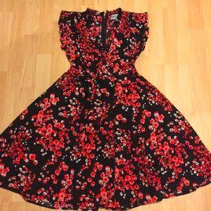 Unique Vintage Floral Swing Dress NWOT